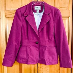 L.L.Bean Women's 16 Pink Blazer with Embroidery